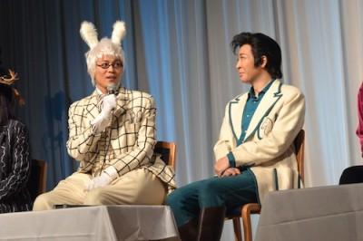 ウサギ役・平方元基さんとジャック/白のナイト役・石川禅さん