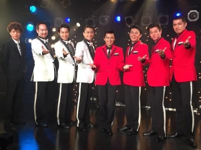 左から藤田俊太郎さん(演出)、福井晶一さん、 海宝直人さん、 中河内雅貴さん、中川晃教さん、藤岡正明さん、矢崎広さん、吉原光夫さん